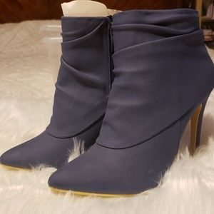 Never Worn Andie Blue Booties size 6.5